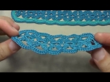 Как вязать ленточное кружево - урок вязания крючком - вязание пояса - lace tape