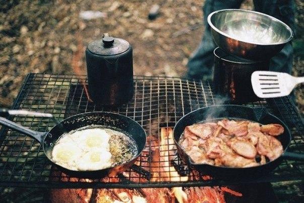 Еда в лесу — не то, что дома. Вкус совсем другой, верно? Острее, что ли… Мятой отдает, смолой. А уж аппетит как разыгрывается!