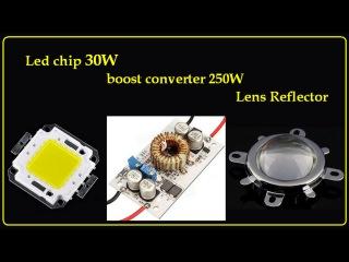 Тест обзор, Светодиоды 30W, супер драйвер, линзованная сборка