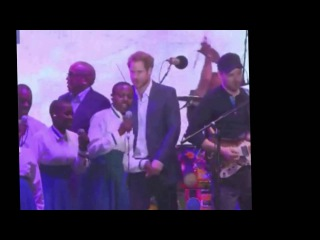 Prince Harry Joins Coldplay Onstage at Kensington Palace Charity Concert.