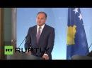 Германия: Штайнмайер обсуждает отношения ЕС наряду с Косово МИД Ходжай.