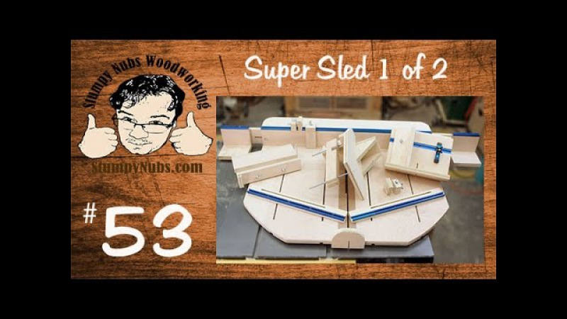 SUPER table saw sled crosscuts, tenons, finger/box joints, splines, dovetails and more!