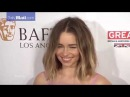 Emilia Clarke shows up to the BAFTA awards in floral pink