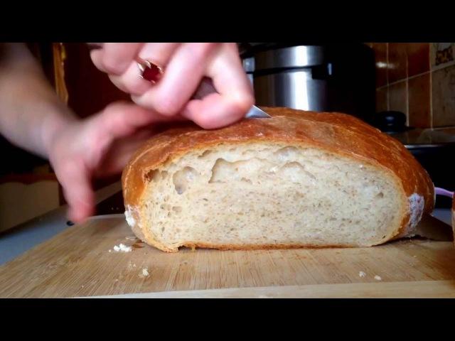 Французская булка на ржаной закваске / домашний хлеб