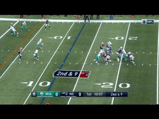 Martellus Bennett 26-Yard Catch Sets Up Amendola TD!   Dolphins vs. Patriots