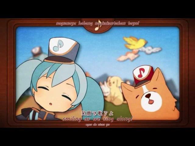 [Hatsune Miku PV] DoReMiFa Rondo (EnglishRomajiTagalog Subbed) mp3 on/off vocal
