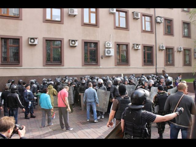 1 мая 2014. Донецк. Штурм областной прокуратуры. Как это было. Столкновения