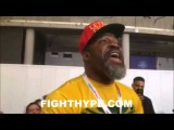SHANNON BRIGGS AND DAVID HAYE GET INTO IT AND TRADE WORDS AT MARTIN VS. JOSHUA WEIGH-IN