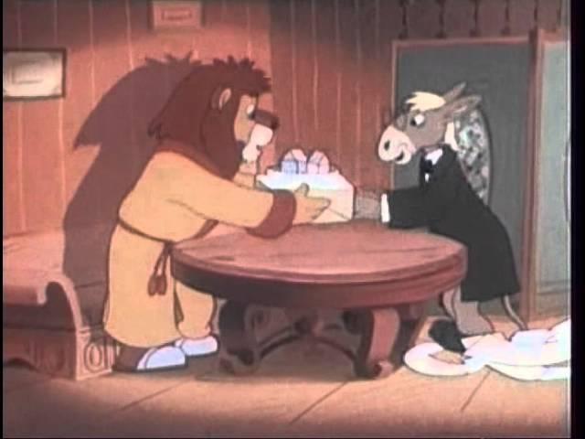 Лиса строитель 1950 Детские мультфильмы