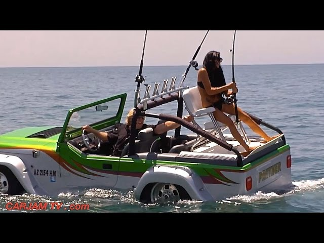 Amphibious Car Worlds Fastest Amphibious Vehicle WaterCar Panther Sexy Commercial Honda CARJAM TV HD