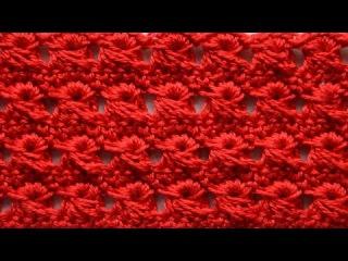 Урок вязания крючком - Узор из вытянутых петель. Перуанское вязание