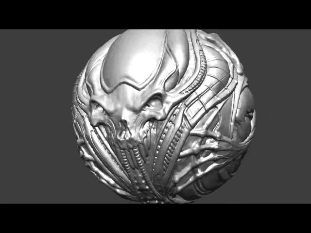 Alien Artifact - modelling process - timelapse