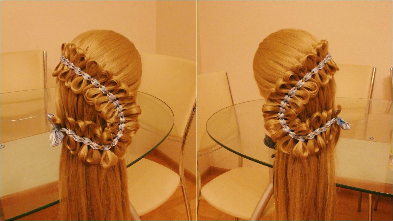 Вплетение ниток в косу пошагово