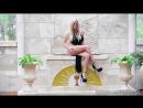 Ideal Body Girl ∞ Gisele Love в сексуальном черном платье на высоких каблуках без трусиков ласкает свою грудь и киску, brazzers