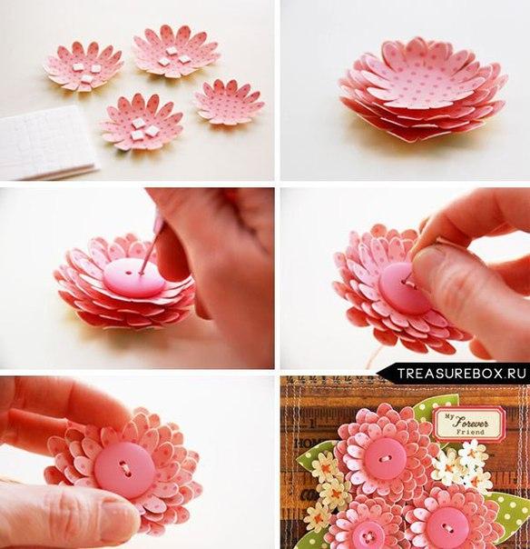 Цветы для открытки своими руками пошаговое