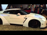 ARMYTRIX Liberty Walk wide body GT-R R35 rev it for the crowds at Supercar Private Event in Malaysia