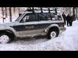 Аринино Езда по глубокому снегу Уазы Нивы и Jeep в 60 см снегу