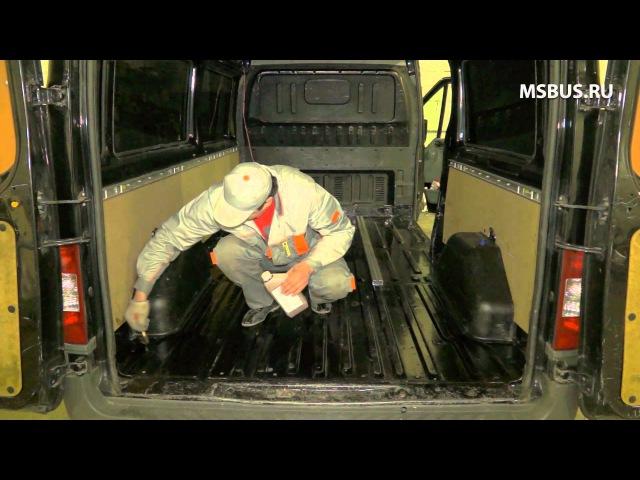 Переоборудование фургона, установка кресел на рельсах