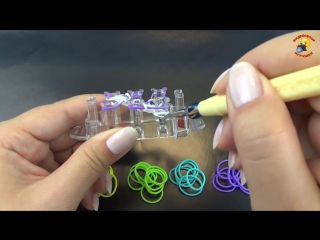Браслет «Ziggle Zaggle» из резинок Rainbow Loom на станке Monster Tail