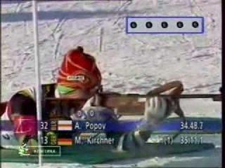 Обратный отсчёт Биатлон Олимпийские игры 1994 в Лиллехаммере Мужчины Индивидуальная гонка НТВ