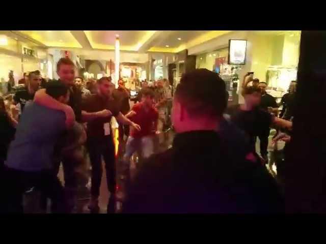 Khabib Numagomedov Nate Nick Diaz dispute leads to Chair throwing Melee outside WSOF