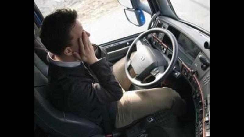 водитель автобуса заснул за рулем