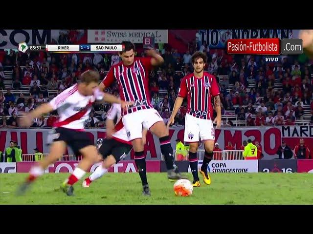 River Plate vs São Paulo 1 1 El Caño de Ganso que Humilla a Nicolás Domingo Copa Libertadores 2016
