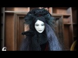 Blanche Black Cat Anthro Art Doll by Zlatas fantasy dolls