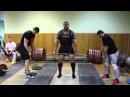 Mikhail Koklyaev deadlift steps 70-360-70 kg