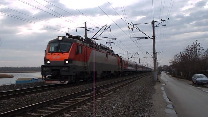 ЭП20-003 (ТЧЭ-6 Москва-Сортировочная-Рязанская, Моск.ЖД), перегон Кизитеринка-Александровка, 14 февраля 2016 года.