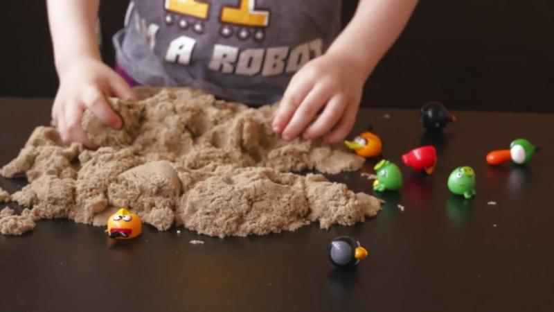Идеи для игр с кинетическим песком Любящие мамы