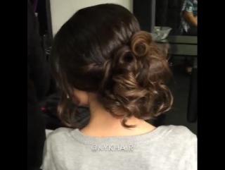 Урок прически с собранными волосами