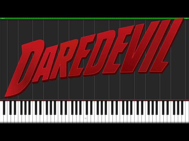 Daredevil Theme [Easy Piano Tutorial] (Synthesia) Fontenele NXT
