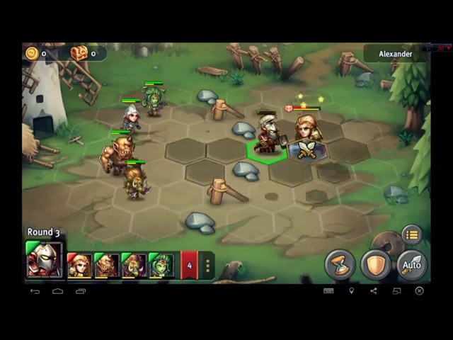 Heroes Tactics Heroic Mode Level 1-1 ★★★ (F2P Heroes No Pegasus)