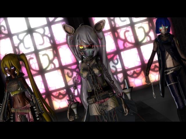 Mangle, Toy Chica, Bonnie ~FNaF3 Circus Phantom Animatronics