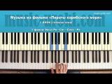 Музыка из фильма Пираты карибского моря (Piano cover+tutorial+ноты)