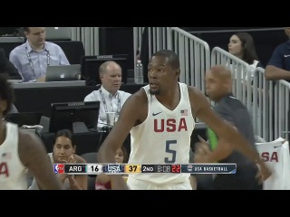 USA Basketball: Хайлайты Кевина в матче с Аргентиной
