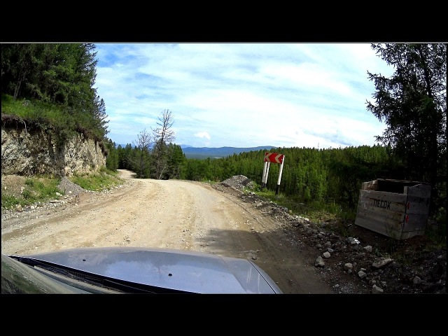 The road in the mountains: Aktash to Ulagan. Altai mountains, Siberia, Russia (Full HD)