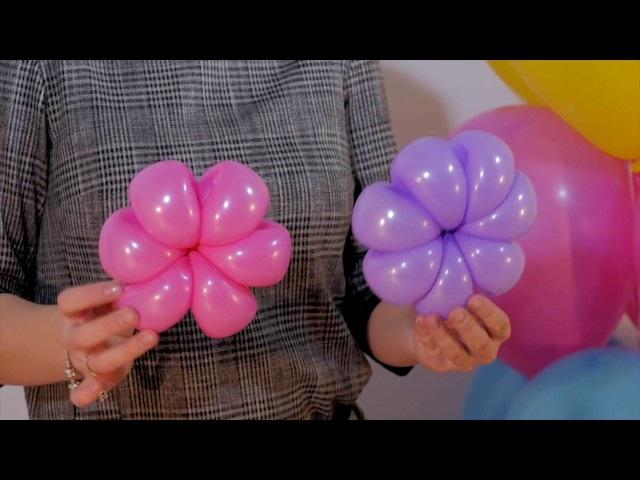 Второй видео урок для аэродизайнеров (ромашки из шаров) от Алены Погодиной