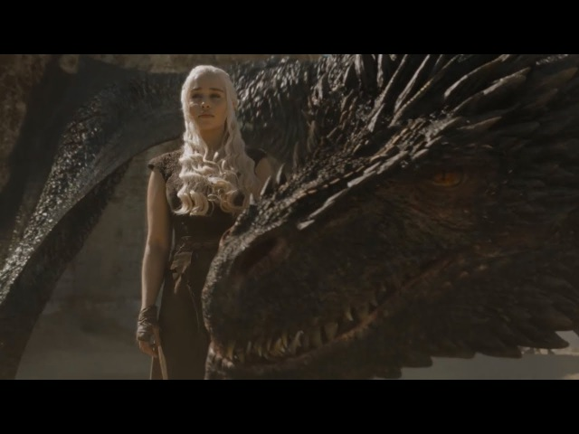 Game of Thrones 6x09 - Daenerys Riding Drogon, Burning the Masters' Ships - S6E9 Dragon Scenes