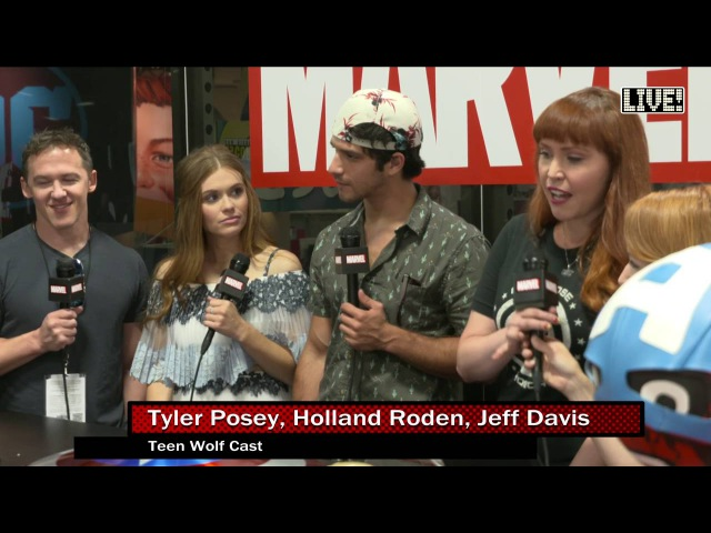 The Cast of Teen Wolf on Marvel LIVE! at San Diego Comic-Con 2016 (Part 1)
