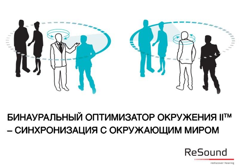 Эксклюзивная разработка корпорации GN ReSound, представленная в линейке Verso™ - Оптимизатор окружения™ II, обеспечивающий необходимое усиление для четкого понимания речи и комфортного восприятия звуков