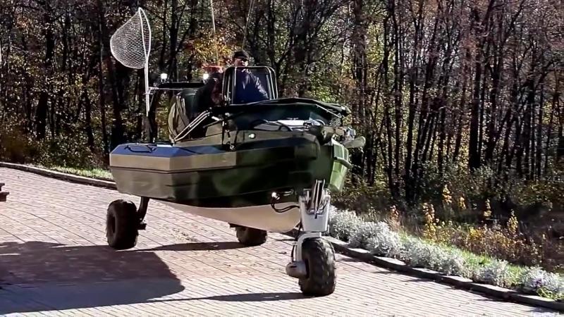 Вот это лодка! Sealegs 6.1m D-TUBE, лодка для рыбалки и охоты. Extreme 4x4