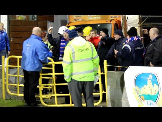 Linfield fans in Dublin (March 2013)