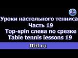 Уроки настольного тенниса Часть 19 Топ-спин слева по срезке Table tennis lessons 19