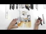 Интерьерный скетчинг дизайн рабочего пространства. Распечатай построение и ри ...