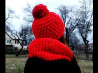 Шарф СНУД крючком для начинающих. Round Crochet Scarf