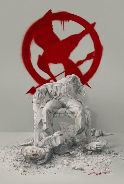 Новый промо-постер фильма  игры: Сойка-пересмешница. Часть II»: