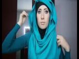 Хиджаб, как легко и быстро завязать шарф, несколько вариантов