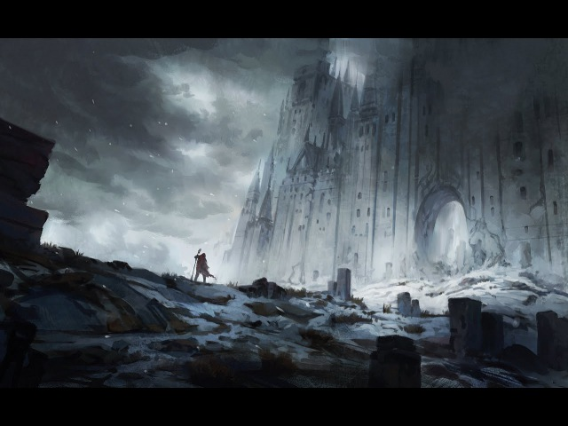 Digital Painting - The Old North Landscape Concept Art - Time-Lapse